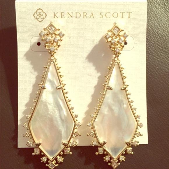 b1fd00baf3162 Kendra Scott Jewelry | Martha Earrings In Ivory Mop Gold | Poshmark